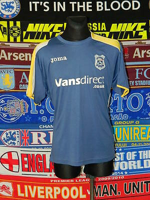 5/5 Cardiff City adults L 2008 football shirt jersey trikot