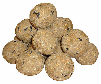 50/100/150 UnNetted No Net Fat Balls Suet Balls Garden Feed for Wild Birds