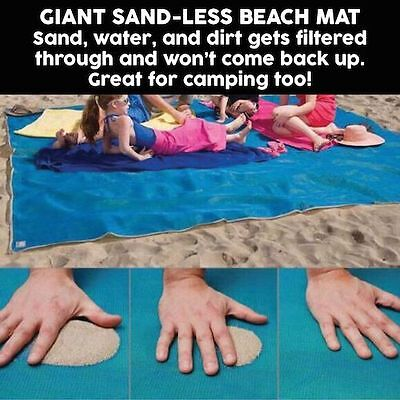Nautical Huge12' ft by 12'ft outdoor sand beach mat beach, picnic, concert
