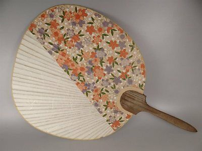 YU107 Round fan Washi Paper Japanese Picture Geijyutu Traditional crafts Vintage