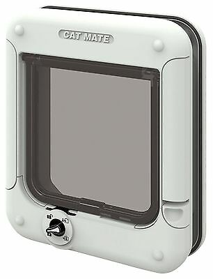 Cat Mate Rotary 4-Way Locking Cat Flap - White