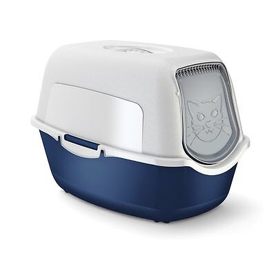 Rotho cat litter box with cover and door - easy to clean litter box for domestic