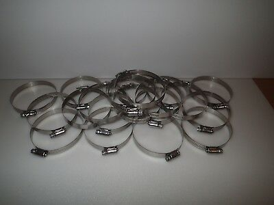 "Lot of 20 IDEAL 300ss Stainless 1"" - 4"" (Size 56) Snaplock steel Hose pipe Clamp"