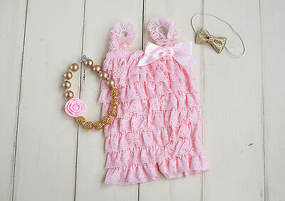 Cake smash outfit, romper baby outfit, pink and gold outfit, baby outfit