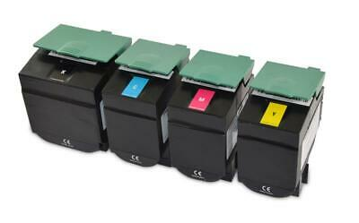 4 Toner cartridges compatible with Lexmark C540 Set