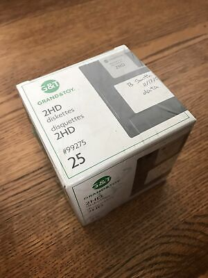 "New Grand & Toy 1.44MB 3.5"" 2HD Diskettes - Box of 25 - QTY"
