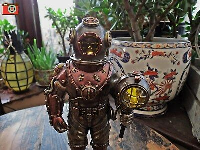 Mariners Descent, Skeleton Diver Steampunk Figure, Nemesis Now. Superb #031