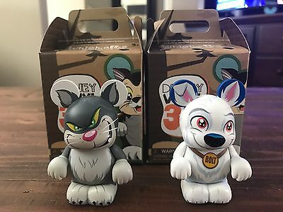 """Disney Vinylmation 3"""" WHISKERS & TAILS SERIES - Bolt and Lucifer - Set of 2"""