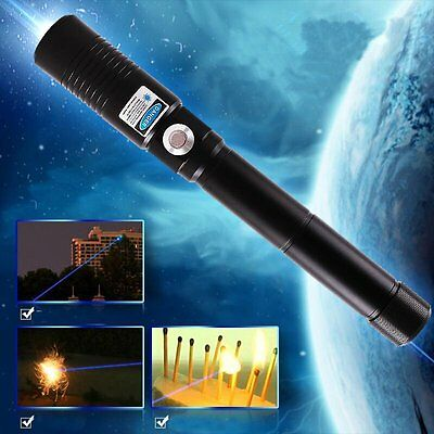 5mW 450nm Blue Laser Pointer Pen Burn Beam Matches Light Cigarettes pop balloons