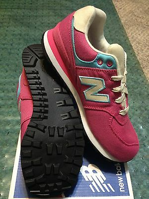 NEW BALANCE RUGBY 574 - KL574RMP - Plenty Pink with Blue  Preschool Girl sizes
