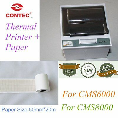 NEW THERMAL PRINTER Recorder& Paper For CONTEC Patient Monitor  CMS6000/CMS8000
