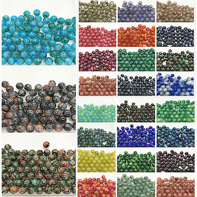 4MM 6MM 8MM 10MM Double color Round Spacer Loose Beads Jewelry Making Wholesale