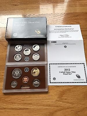 2012 S Partial Us Mint Proof Set With Box And Coa
