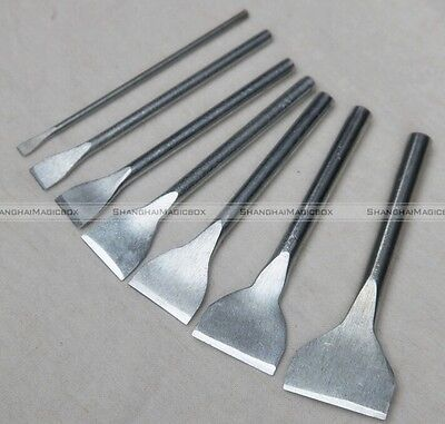 7pcs Leather Craft Tool Slot Punches Straight Punch Hollow Tool DIY 5mm-35mm