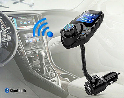 Wireless Bluetooth Car FM Transmitter MP3 Player USB Charger For iPhone Samsung