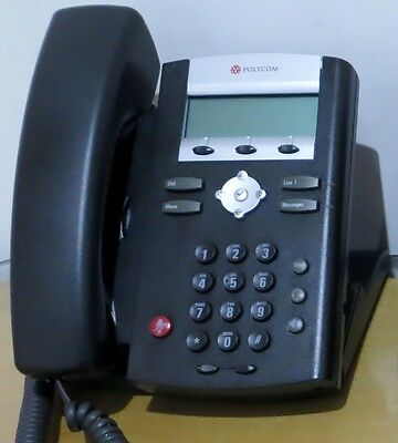 1 X Polycom SoundPoint IP 331 VOIP Phone Telephone Handset Perfect Working