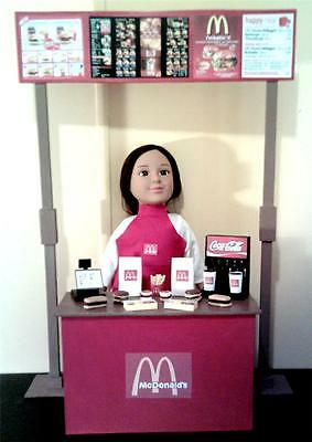 """Deluxe Handmade McDonalds Doll Playset for 18"""" or American Girl Sized Dolls"""