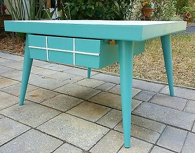 Vintage End Side Table Nightstand w/drawer- Mid Century Modern Atomic Retro