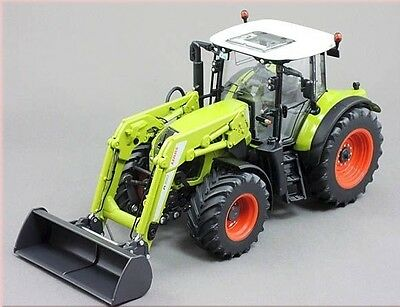 Wiking 1:32 Diecast Trattore Tractor Claas 650 Arion Con Benna Frontale Art 7325