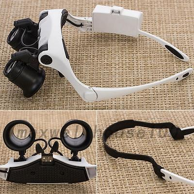 10X/15X/20X/25X LED Magnifier Magnifying Glasses Eye Loupe Jeweler Watch Repair