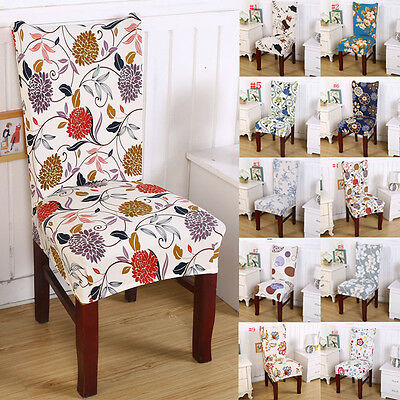 UK Removable Elastic Stretch Dining Room Wedding Banquet Chair Cover Slipcover