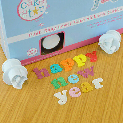 Cake Star Push Easy Lower Case Alphabet Plunger Cutters for Sugarcraft Hobbies