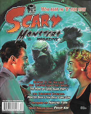 Scary Monsters #102 John Agar Francine York Philip Kim Kaiju ROM 2016