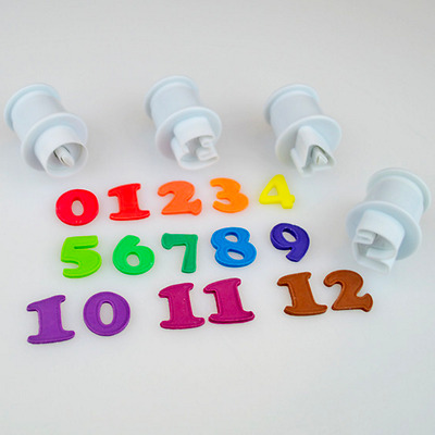 Cake Star MINI Push Easy Small Number Plunger Cutters for Sugarcraft Hobbies