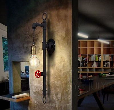 Industrial Steampunk Wall Light Retro Vintage Pipe Lamp E27 Modern Home Lighting