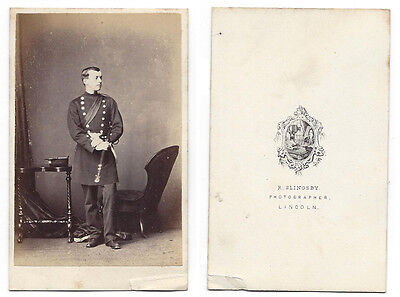 CDV Soldier named Richard Mason Carte de Visite Photo by Slingsby of Lincoln