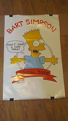 BART SIMPSON The Simpsons 1989 Poster Vintage Radical Dude TV Show Original