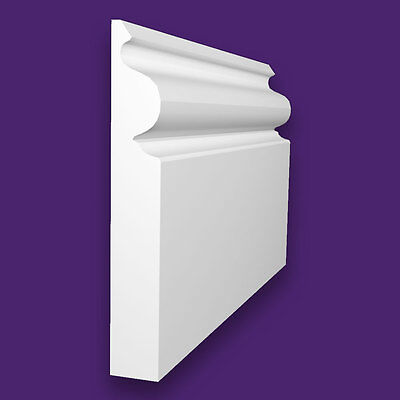 White Primed Superior Grade MDF Regency Ogee Skirting Board