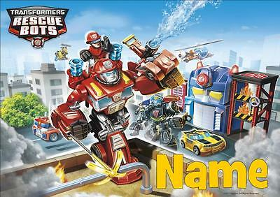 Transformers Rescue Bots Personalised Placemat