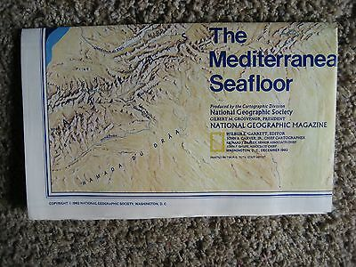 National Geographic Map, The Mediterranean Seafloor/Historic Mediterranean, 1982