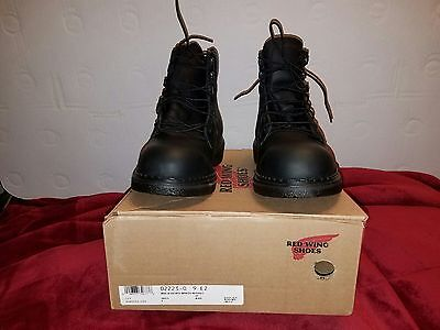 """*new* Red Wing #2223 Leather 6"""" Work Boots Steel Toe- Mens Size 9 E2  Black Usa!"""