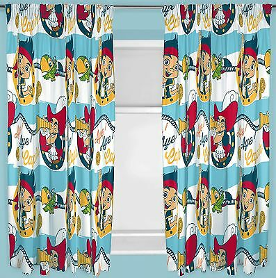 "Jake & The Neverland Pirates Sharks 66""x72"" Drop Curtains Kids Character Bedroom"