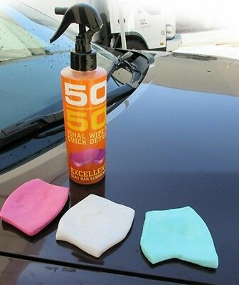 4pc of 2.5oz Pro Auto Detailing Clay Bar with CLAY LUBE Aggressive Medium Lite