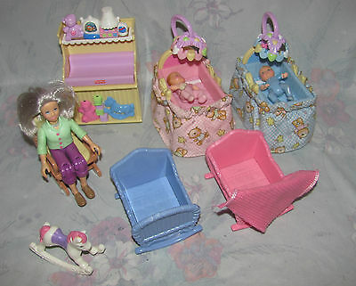 Fisher Price Loving Family Dollhouse Nursery Set - Twin Babies, Grandma, Sounds