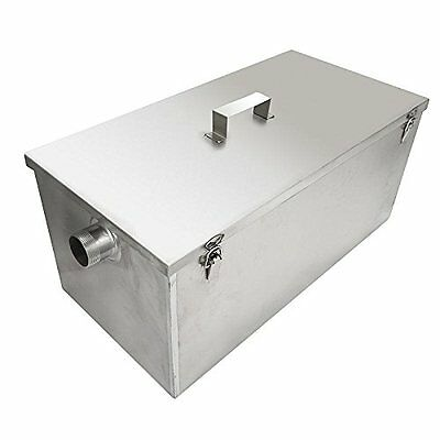 BEAMNOVA Commercial 25LB 13GPM Gallon Per Minute Grease Trap Stainless Steel