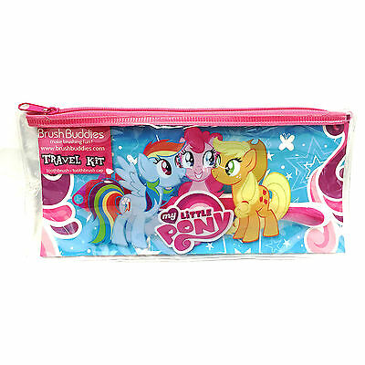 2PACK My Little Pony Brush Buddies Travel Kit Pouch