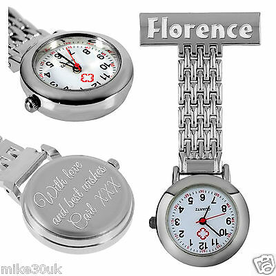 Beautifully Engraved Nurse or Carer Quartz Fob Watches with FREE SPARE BATTERY