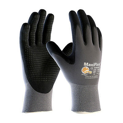 PIP 34-844 ATG MaxiFlex Endurance Micro-Dot Nitrile Coated Gloves 3 Pair LARGE