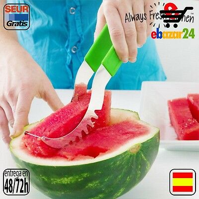 Always Fresh Kitchen Original Cortador de Sandía Slice & Serve Ralladores, corta