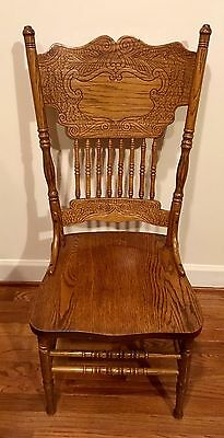 oak chairs excellent, Set 6 Oak Carved back  Dining Room  Chair s
