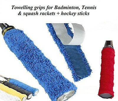 4 x Self Adhesive TOWEL TOWELLING GRIP GRIPS Badminton Tennis Squash assorted