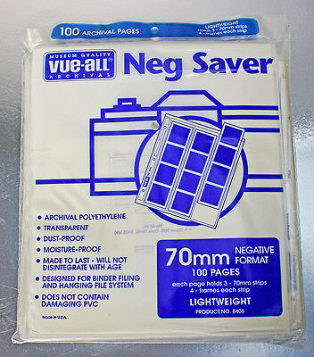 70Mm Archival Negative Saver Pages – Pack Of 100