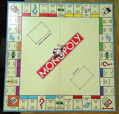 VINTAGE MONOPOLY GAME BOARD 1966+ COLLECTABLE (board only) (#42)