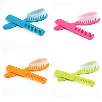 2PC Baby Safety Soft Hair Brush Infant Comb Grooming Shower Design Pack Kit HOT
