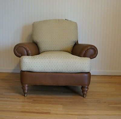 Upholstered Chair/Leather Chair/Club Chair/Occasional Chair by Ethan Allen