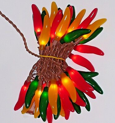 New Chili pepper multi-color 50 light Christmas  Wedding Party indoor/outdoor